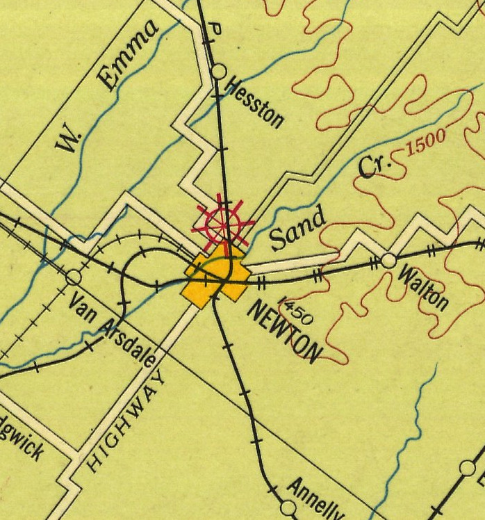 1927 Airway Map