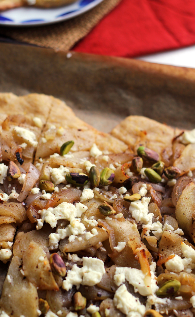 Roasted Apple, Shallot, and Goat Cheese Tart | Joanne Eats Well With ...