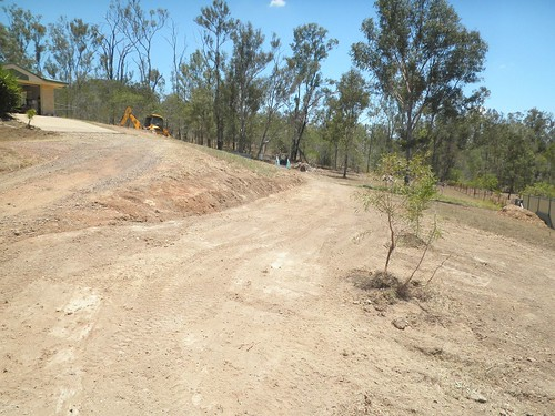 excavating an access road