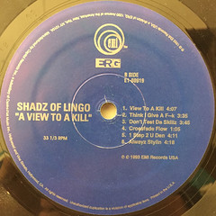 SHADZ OD LINGO:A VIEW TO A KILL(LABEL SIDE-B)
