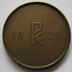 1928 IX Olympiad Amsterdam Medal reverse