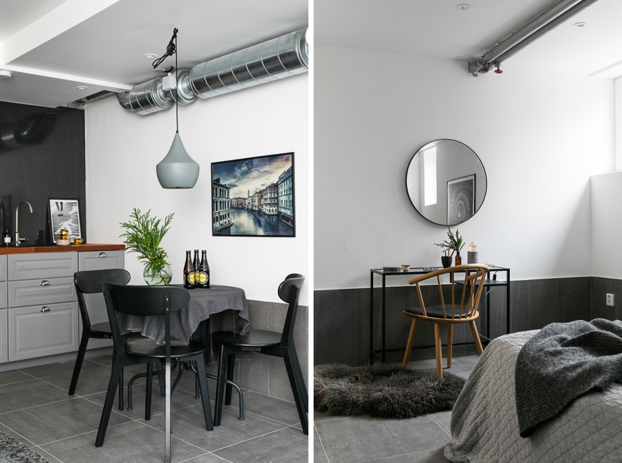 A Modern White and Gray Apartment
