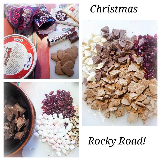 JouluinenRockyRoadOhje,ChristmasRockyRoad-25495111, christmas, joulu, recipe, resepti, rocky road, valkosuklaa, white chocolate, jouluinen ohje, christmassy, ruoka, food, herkut, delicacy, dried cranberru, kuivatut karpalot, pistaasipähkinät, pistachio nuts, marshmallows, vaahtokarkit, joulupipareita, christmas gingerbread cookies,