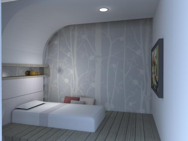 3D室內繪圖設計作品-綠生活實品屋