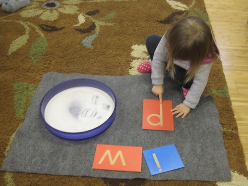 letter tracing work
