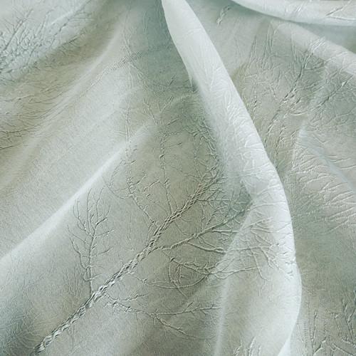 樹紋仿絲紗 繡線樹枝 無接縫窗紗布 DB1990044