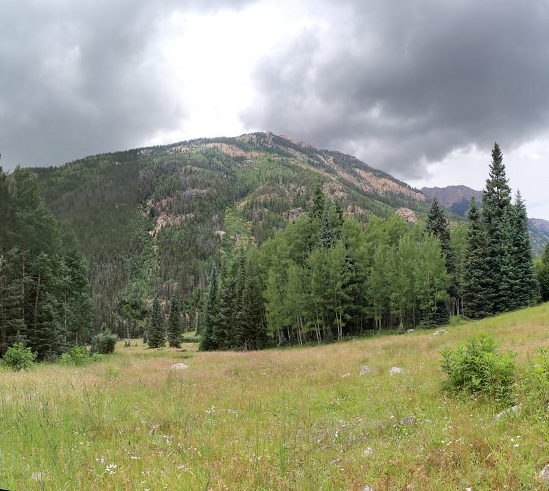 Dark thunderhead over Thunder Mountain
