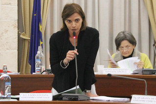 L'assessore Luciana Laera in consiglio 2
