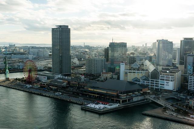 ポートタワーから南西の方角を見た写真