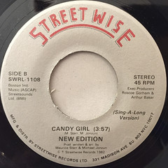 NEW EDITION:CANDY GIRL(LABEL SIDE-B)