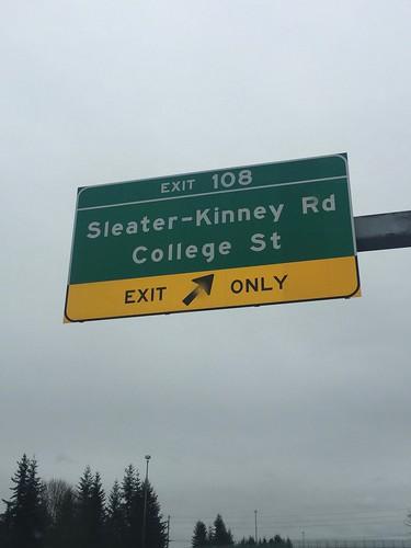 Sleater-Kinney Rd!