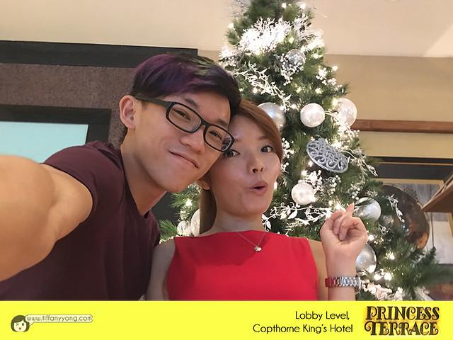 Copthorne Kings Princess Terrace Christmas Buffet Peps Goh Tiffany Yong