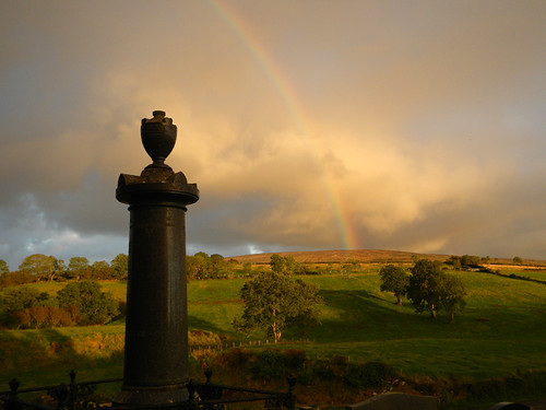 Rainbow over Trummery Cemetery in Ireland