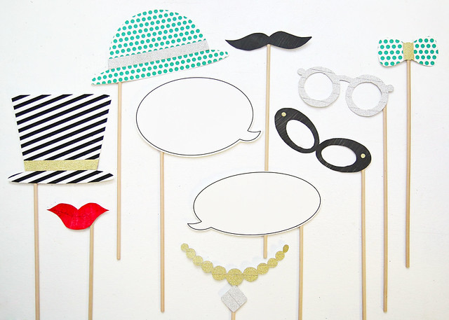 Customizable Photo Booth Props