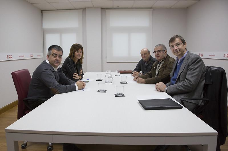 Reunión de Idoia Mendia y Miguel Angel Morales con la Fundación Aubixa