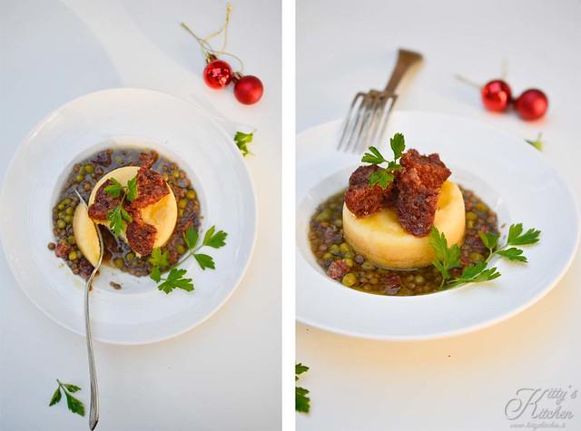 lenticchie, polenta e salama