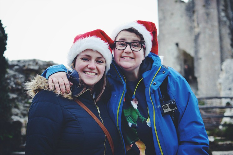 couple at Corfe Castle