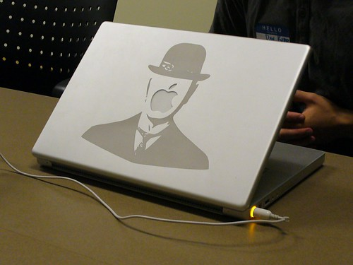 Dan's laser etched Magritte powerbook | by Steve Rhodes