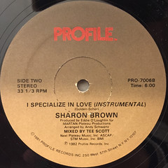 SHARON BROWN:I SPECIALIZE IN LOVE(LABEL SIDE-B)