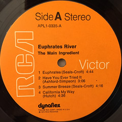THE MAIN INGREDIENT:EUPHRATES RIVER(LABEL SIDE-A)