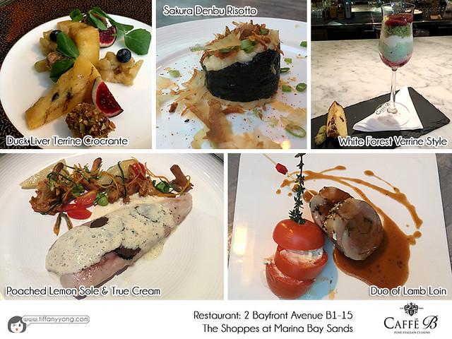 Caffe B Restaurant 2016 Christmas Meal