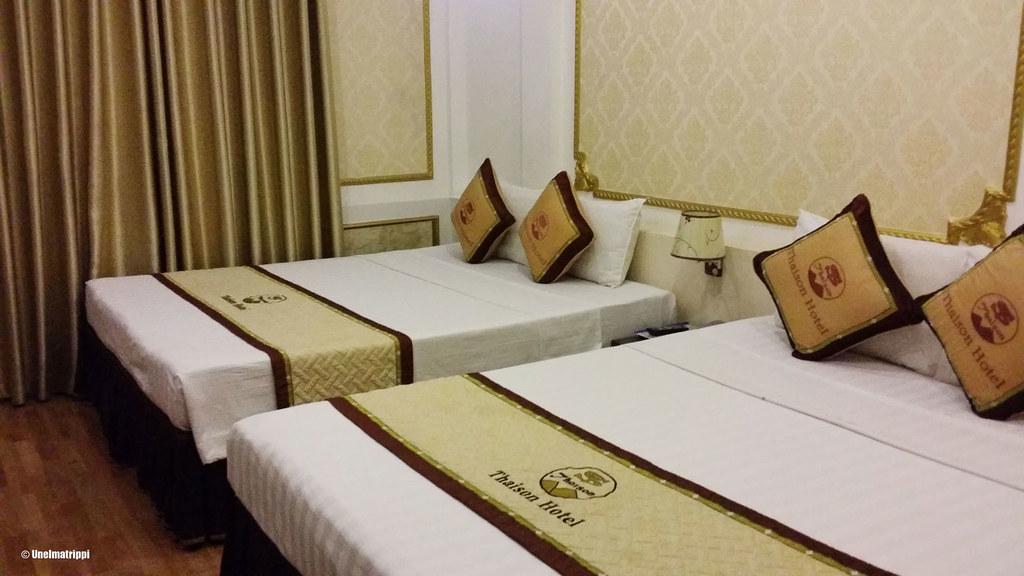 Huoneemme Thaison Palace Hotelissa Hanoin Old Quarterissa
