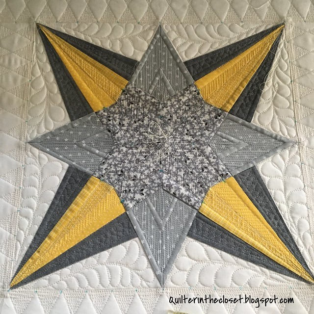 Lucky Star quilting in progress