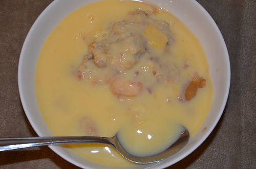 plum crumble and custard Jan 17