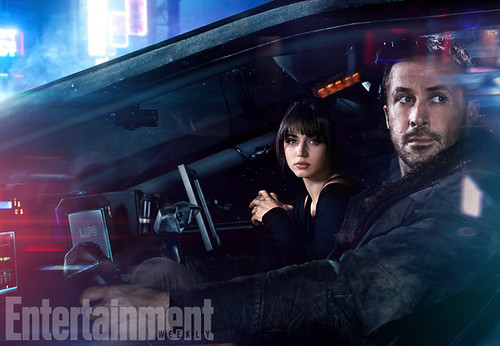 Blade Runner 2049 (2017).L-R: Ana de Armas and Ryan Gosling