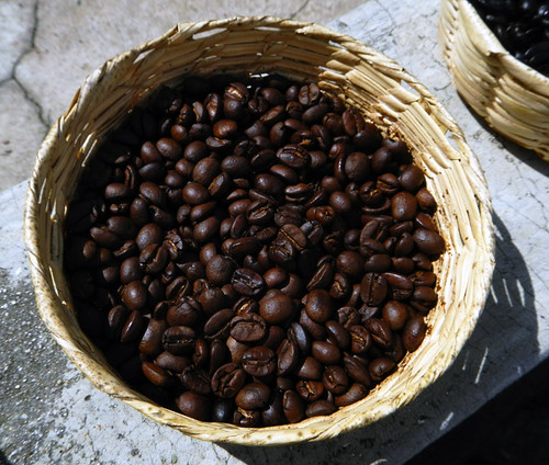 Regular roast coffee beans from organic coffee plantation in San Sebastian, a Pueblo Magico up in the mountains above Puerto Vallarta