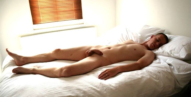 naked man asleep