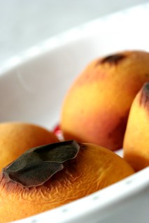 roasted peaches | by chockylit