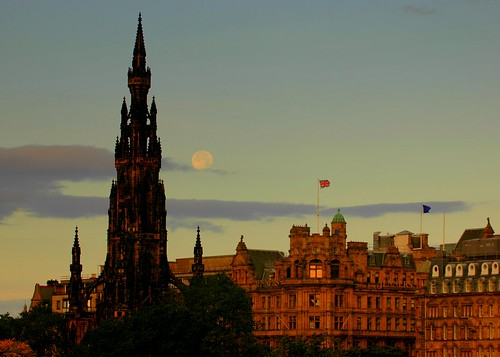 Moon over Edinburgh | by Extra Medium