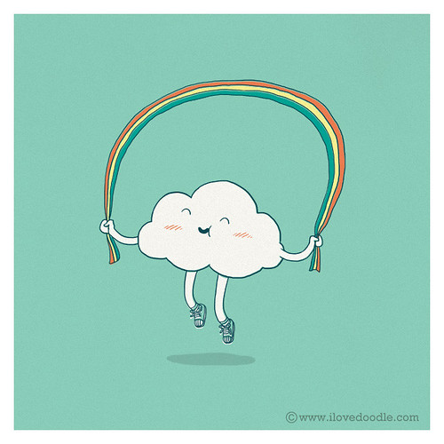 Day 2 : Rainbow Skipping | by ILoveDoodle