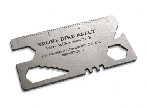 Broke Bike Alley's Metal Business Card | by BusinessCardDesignIdeas