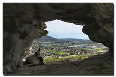 Inside Peers Cave, overlooking Fish Hoek | by Ian Junor