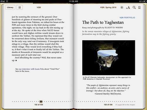VQR Digital Edition on iPad | by FontShop