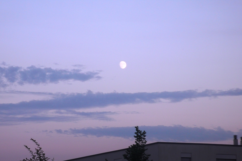 Moon over Feldbrunnen, Switzerland