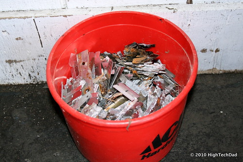 Bucket of Used Razorblades | by HighTechDad