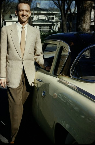 Man with New Studebaker - 1956 | by Mike Leavenworth