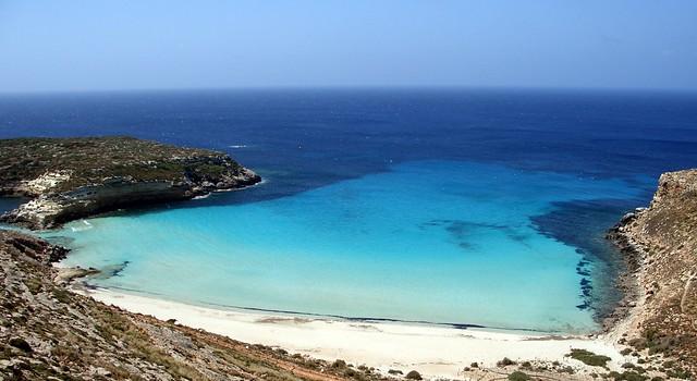 Lampedusa, Rabbit beach Sicily Italy. 5 most beautiful beaches in Europe