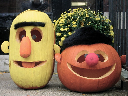 Bert & Ernie ~ Porch Pumpkins 2009 | by Angie Naron