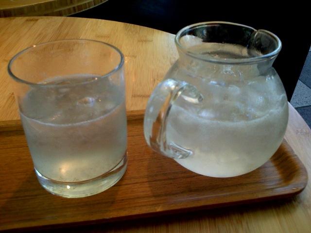 Iced aloe vera tea