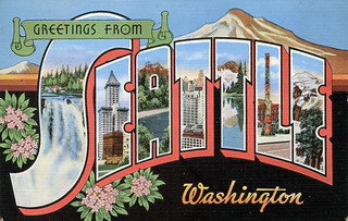 Greetings from Seattle, Washington - Large Letter Postcard | by Shook Photos