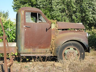 Side View of Old 1948 Studebaker Farm Truck near Irish Bend, Oregon | by Pixel Packing Mama