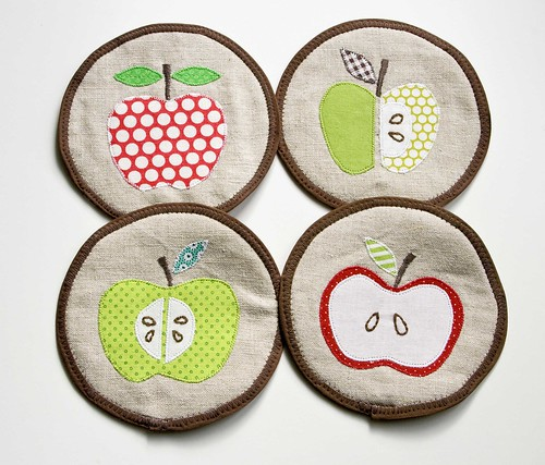 Apple Coasters | by VeronicaMade