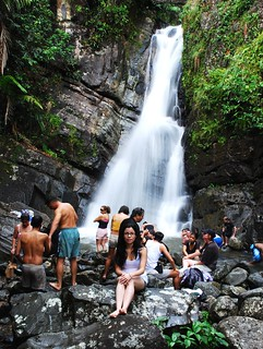 Me at La Mina fall in el Yunque | by yasmapaz & ace_heart