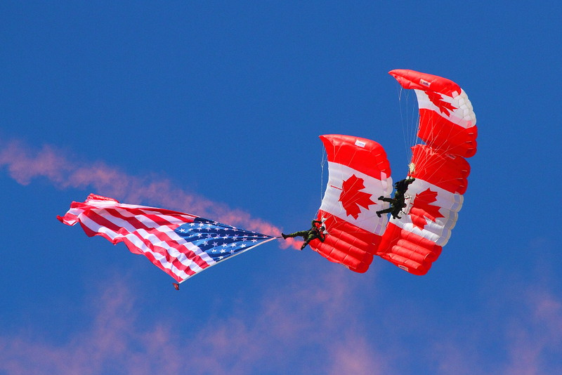 IMG_7644 Flag Drop and Anthem by Canadian SkyHawks Parachute Team