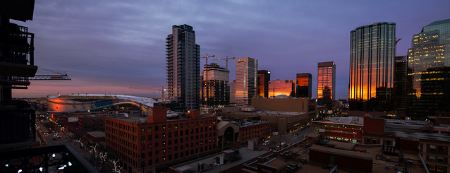 Sunset Reflected Downtown