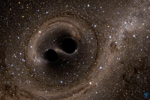 Fusión de dos agujeros negros